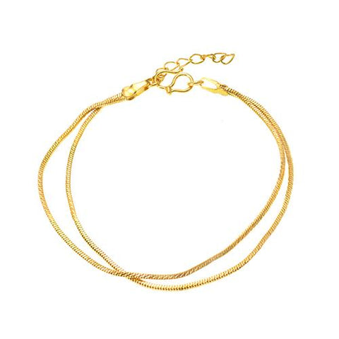 Two Layer Snake Chain Gold Bracelet - TSZjewelry