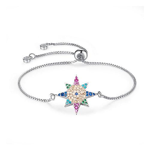 Color Anise Star Silver Bracelet - TSZjewelry