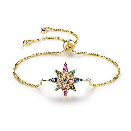 Color Anise Star Gold Bracelet - TSZjewelry