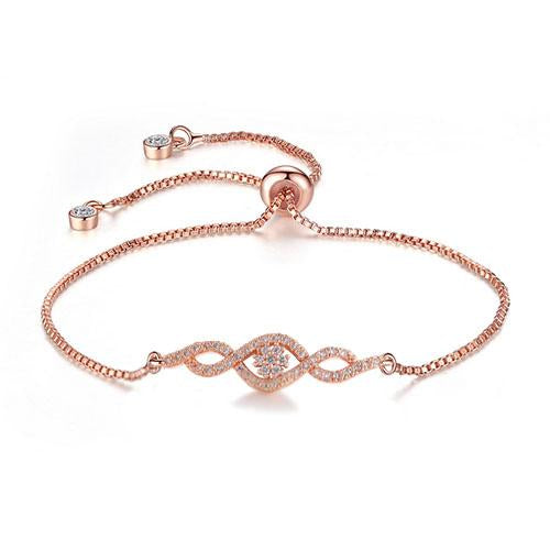 Wave Twist Rose Gold Bracelet - TSZjewelry