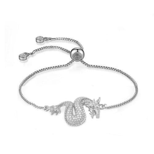 Dragon Adjustable Silver Bracelet - TSZjewelry