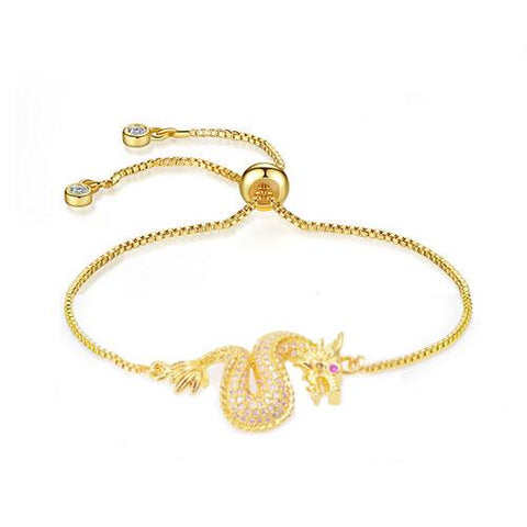 Dragon Adjustable Gold Bracelet - TSZjewelry