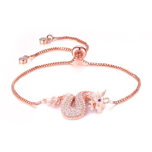 Dragon Adjustable Rose Gold Bracelet - TSZjewelry