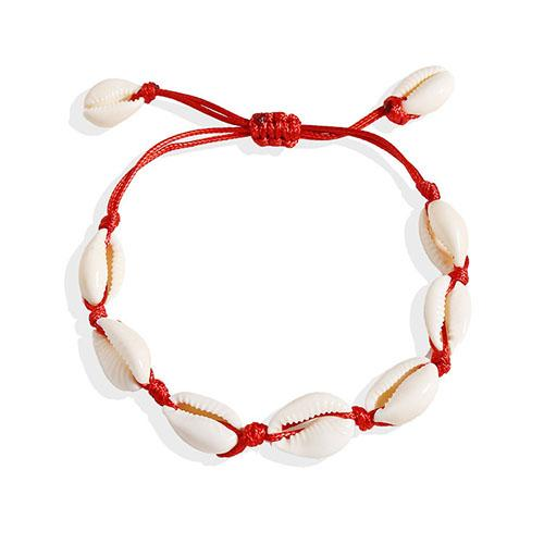 Shell Red Rope Bracelet - TSZjewelry