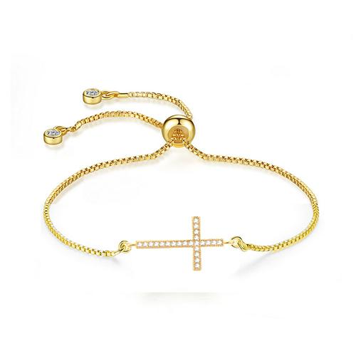 Cross Gold Bracelet - TSZjewelry