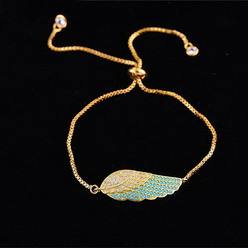 Color Angel Wing Gold Bracelet - TSZjewelry