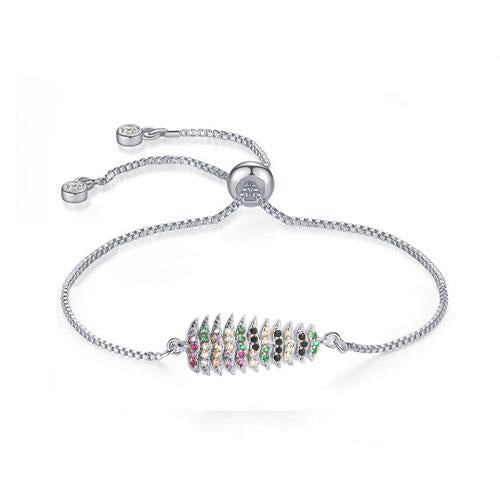 Color Christmas Tree Silver Bracelet - TSZjewelry