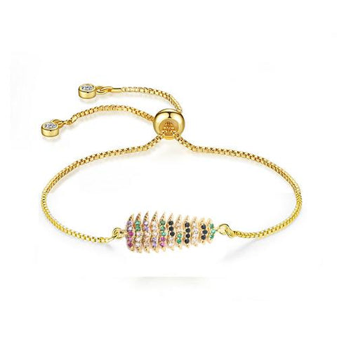 Color Christmas Tree Gold Bracelet - TSZjewelry