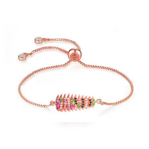 Color Christmas Tree Rose Gold Bracelet - TSZjewelry