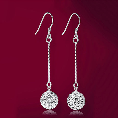 Drop Sparkle Ball Earrings