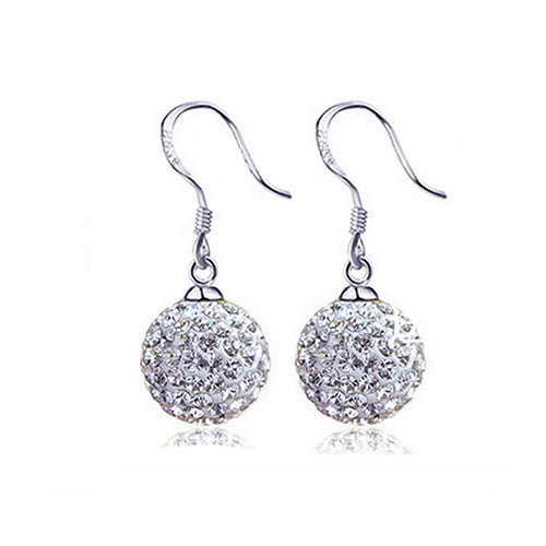 Dangle Sparkle Ball Earrings