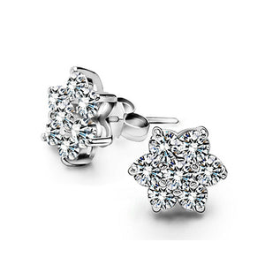 Heart Earrings with Cubic Zirconias