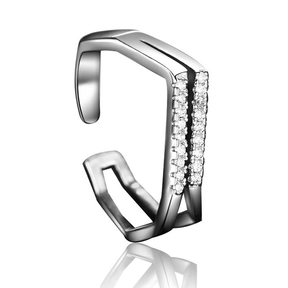 Double V Shape Women Fashion Ring