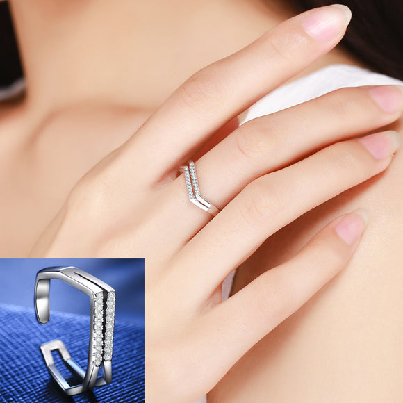 Double V Shape Adjustable Rings For Women