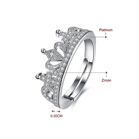 Micro Pave Cubic Zirconia  Crown Ring - TSZjewelry