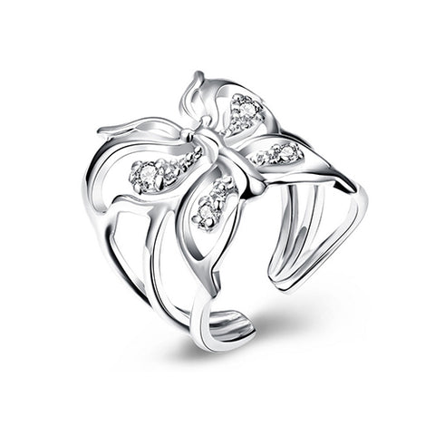 Hollow Butterfly Fashion Ring - TSZjewelry