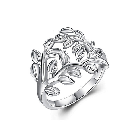 Smooth Olive Leaf Fashion Ring - TSZjewelry