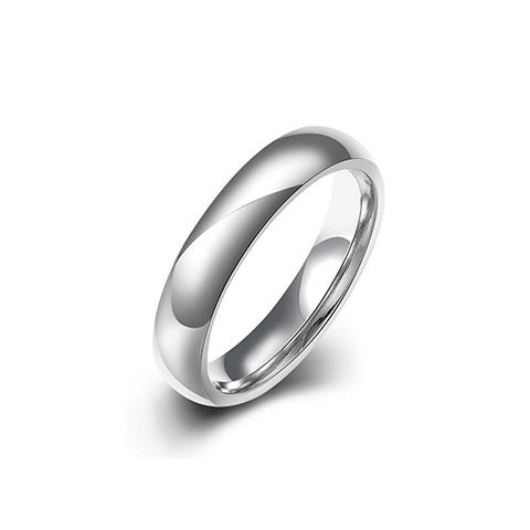 Unisex Stainless Steel 4mm Band Ring - TSZjewelry
