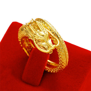 Gold Dragon Roll Ring - TSZjewelry