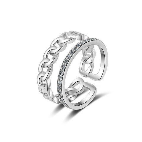 Double Layer Chain Fashion Ring - TSZjewelry