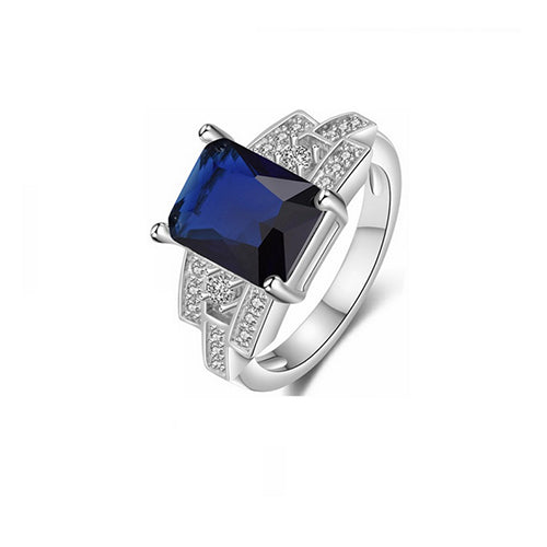 Square Sapphire Ring - TSZjewelry