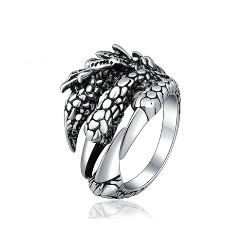 Thai Silver Dragon Claws Ring - TSZjewelry
