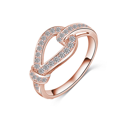 Rose Gold Love Knot Ring - TSZjewelry