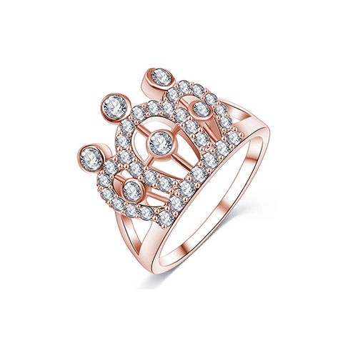 Rose Gold Crown Ring - TSZjewelry