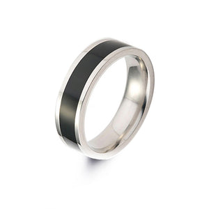 Black Glazes Stainless Steel Ring - TSZjewelry