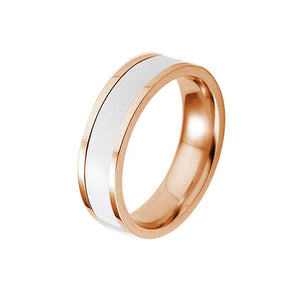 White Glazes Gose Gold Plated Stainless Steel Ring - TSZjewelry
