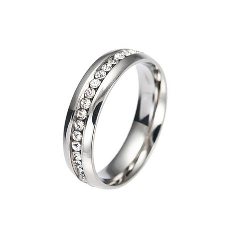 Eternity CZ Paved Stainless Steel Ring - TSZjewelry
