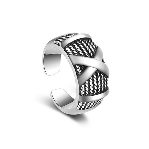 Thai Silver X Letter Ring - TSZjewelry