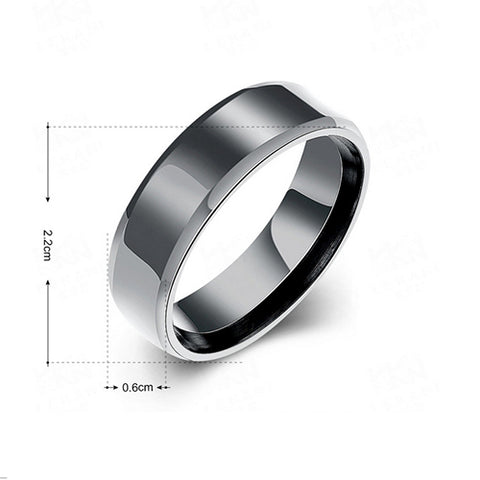 Black Plated Stainless Steel Rings - TSZjewelry