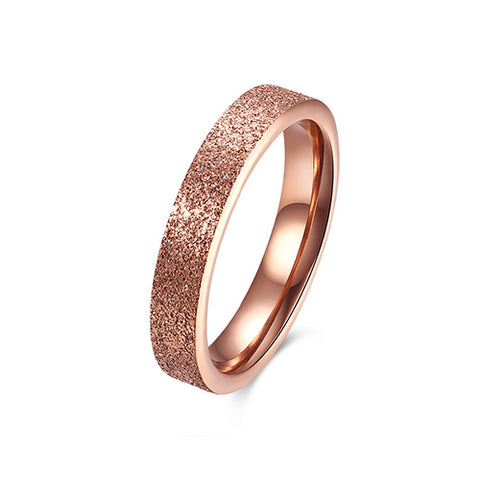 Rose Gold Frosted Ring - TSZjewelry