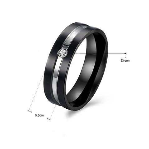 Crucible Black Plated Stainless Steel Two-Tone Ring - TSZjewelry