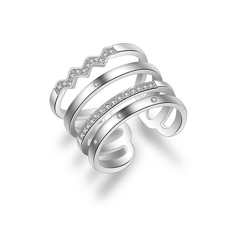 Multi Row Design Band Ring - TSZjewelry