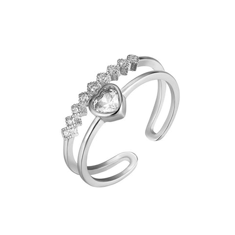Double Row Heart Ring - TSZjewelry