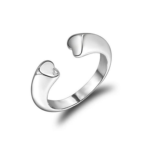 Lovely Hearts Open Front Ring - TSZjewelry