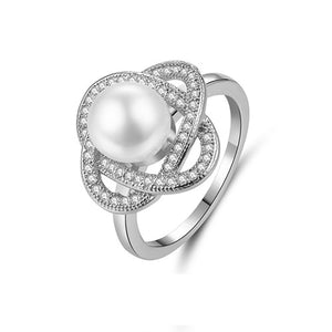 Pearl Flower Ring - TSZjewelry