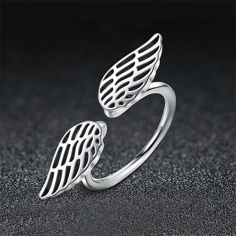 Glossy Angel Wing Ring - TSZjewelry