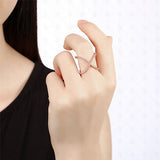 Criss-cross 'X' Rose Gold Ring - TSZjewelry