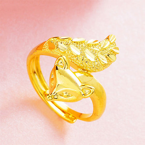 Gold Fox Ring - TSZjewelry