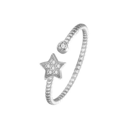 Star Twist Rope Ring - TSZjewelry