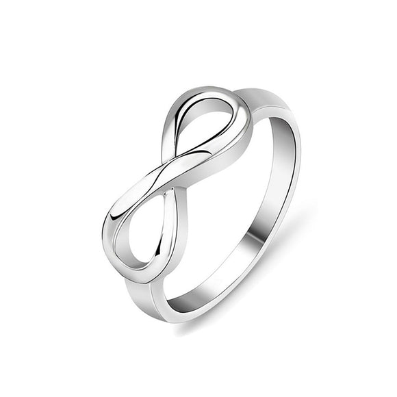 Silver Charming Infinity Symbol Fashion Ring For Girls
