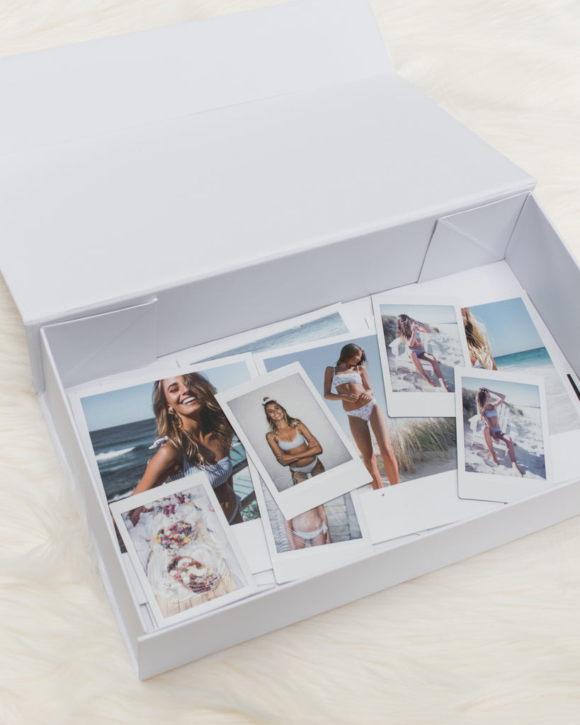 ete swimwear luxe gift boxes polaroid storage