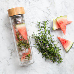 Healthy watermelon and rosemary infused water recipe