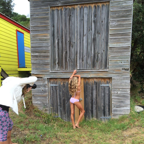 Ete Swimwear photo shoot in Mt martha with Cait Miers