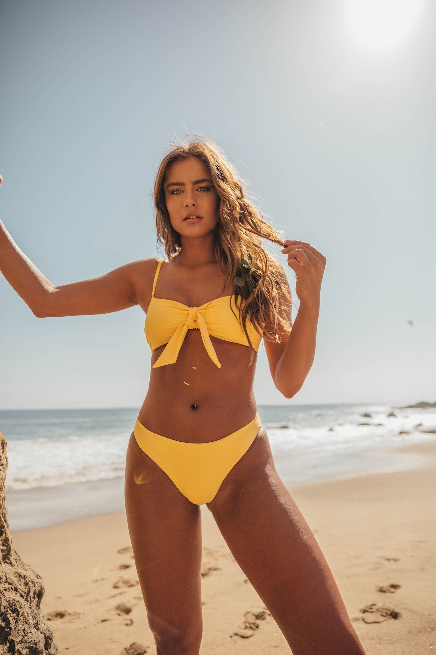 Capri Cheeky Bottoms - Lemon Drop Yellow