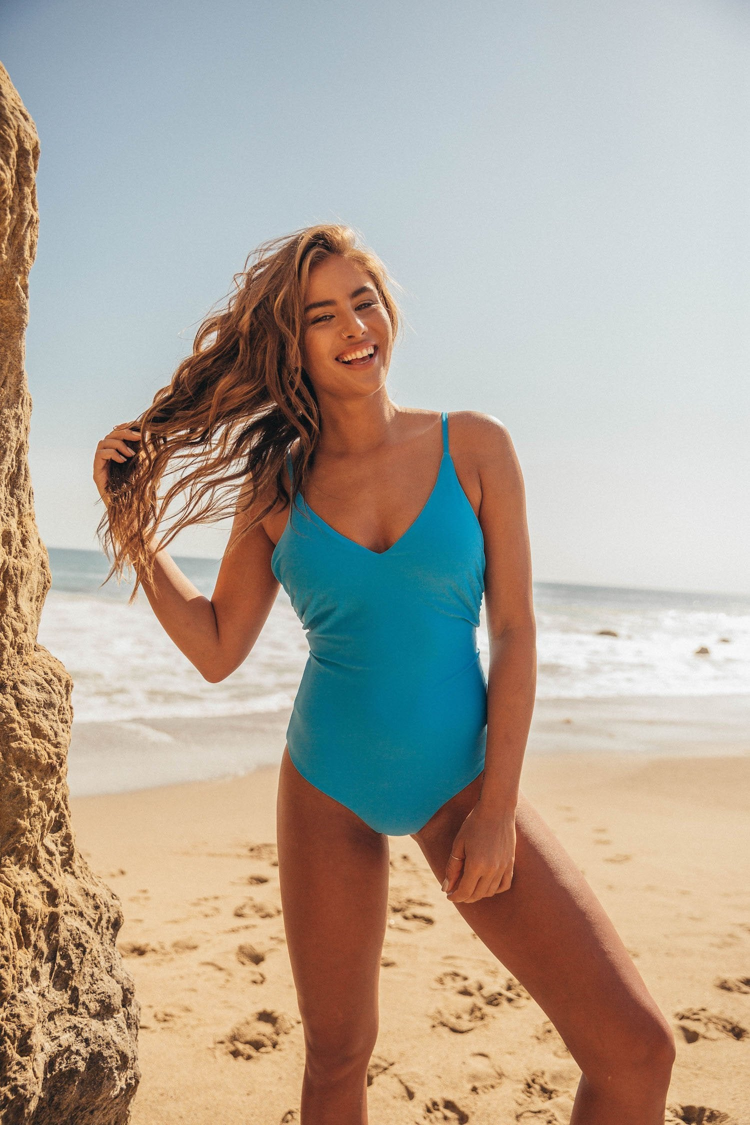 Positano Swimsuit - Ocean Blue