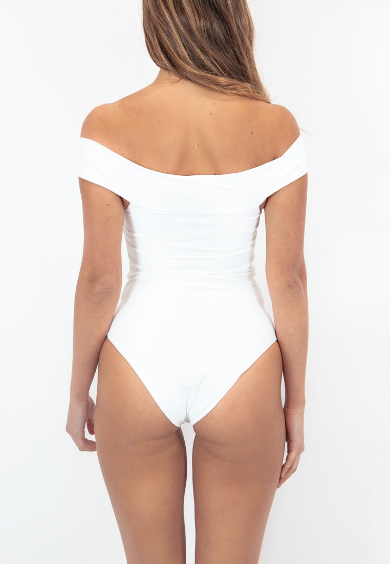 Santorini Off-Shoulder Swimsuit - White